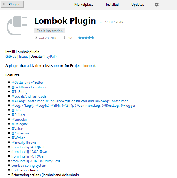 Intellij IDE - Plugin Lombok
