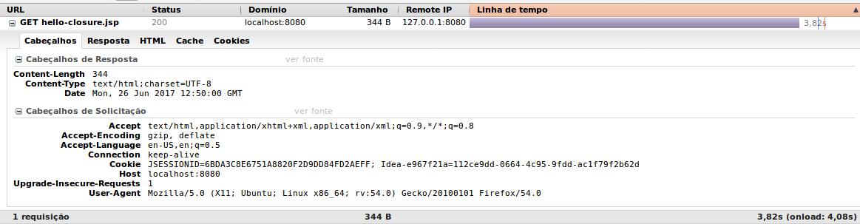 Requisição http tomcat sem GZIP ativo