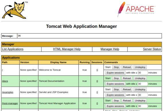 Tomcat Manager Application